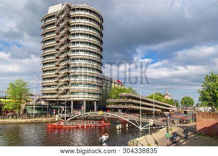 Amsterdam, Netherlands - May 25, 2019: Regardz Meeting Center Known As Zilveren Toren Amsterdam Next