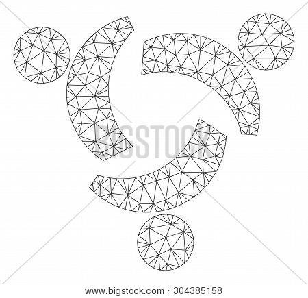 Mesh Community Polygonal 2d Vector Illustration. Model Is Based On Community Flat Icon. Triangular M
