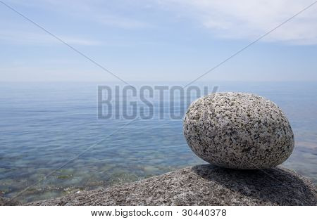 Granite stones at sea coast.