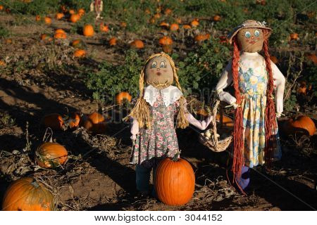 Mother & Daughter Scarecrows