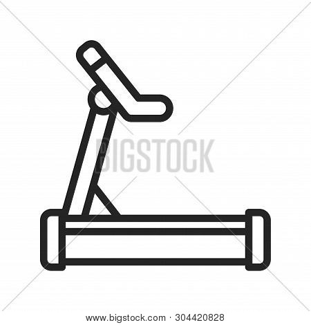 Treadmill Icon Isolated On White Background. Treadmill Icon In Trendy Design Style. Treadmill Vector