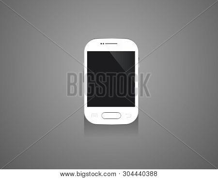 Mobile Mini Smartphones Mock-up In White Colors