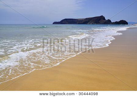 Beach On Porto Santo Island, Portugal
