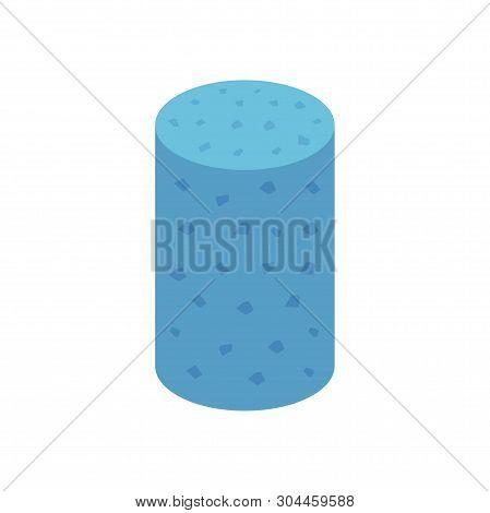 Concrete Specimen Cylinder Type Icon Design On White Background.