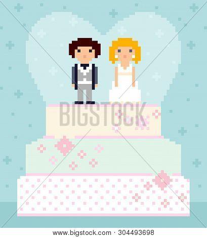 Pixel Art Wedding Vector Photo Free Trial Bigstock