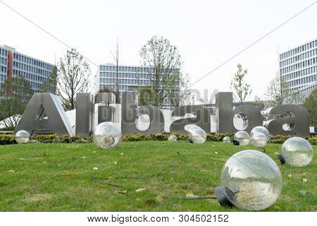 hangzhou,CN-May 3th,2019:Alibaba Group location in hangzhou,zhejiang. Alibaba Group Holding Limited is a Chinese e-commerce company founded in 1999 by Jack Ma. It serves worldwide