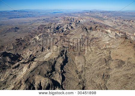 Rugged terrain near the Colorado River