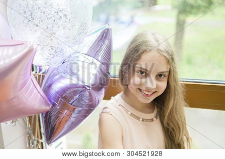 It Is My Party. Girl With Balloons Celebrate Birthday. Birthday Party. Ideas Celebrate Birthday For