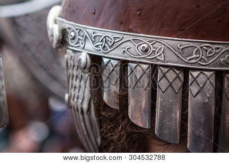 Lerwick, Shetland Isles, Scotland, Uk. 30th January 2018. Up Helly Aa Helmet Of The Viking Fire Fest