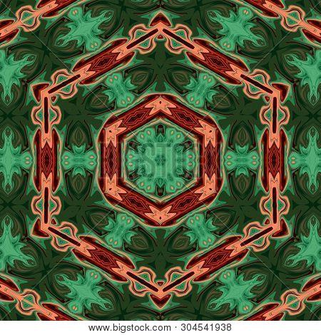 Seamless Moroccan Arabic Mosaic Pattern Background Ornament