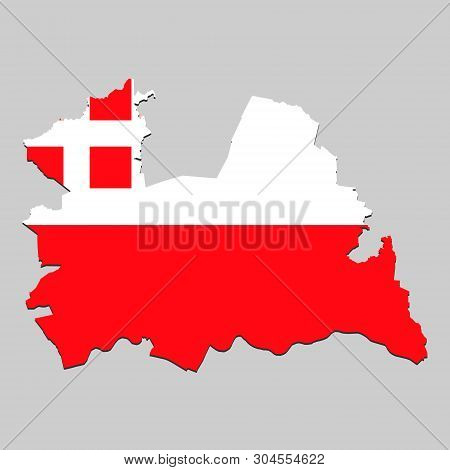 Map Of Utrecht Is A State Netherlands With Flag. Vector Illustration