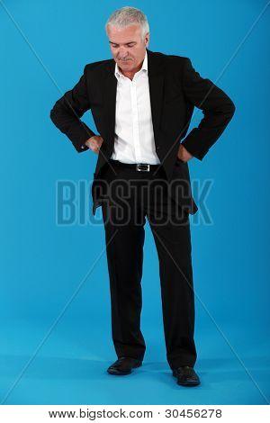 Unimpressed businessman
