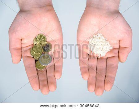 Money is food, food is money