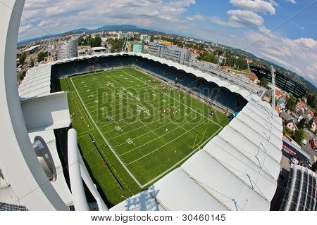 GRAZ, AUSTRIA - JULY 11: A view from the roof of the UPC Arena at the Football World Championship on July 11, 2011 in Graz, Austria.