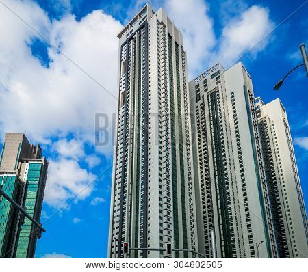 City Skyscrapers On A Cloudy Day - Abu Dhabi City Al Reem Island Marina Towers Residential Area - Ab