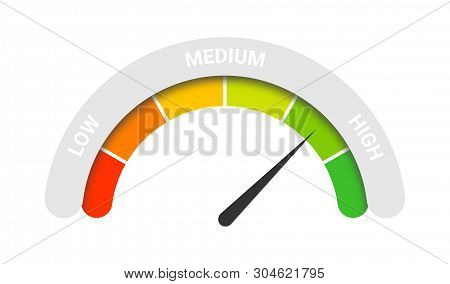 Customer Rating Satisfaction. Feedback Or Client Survey Rate Concept. Customer Satisfaction Meter Wi