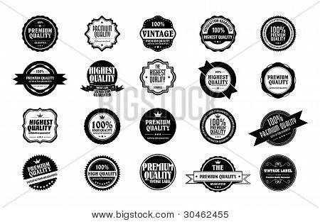 Collection Of Old Styled Vintage Stickers