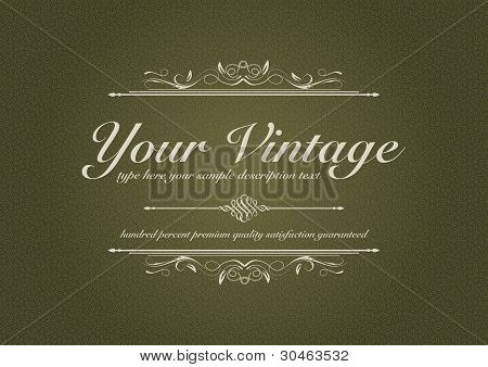 Texturized Vintage Background With Ornament
