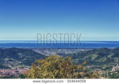 Aerial View Of The Town Viareggio, Italy Tuscany