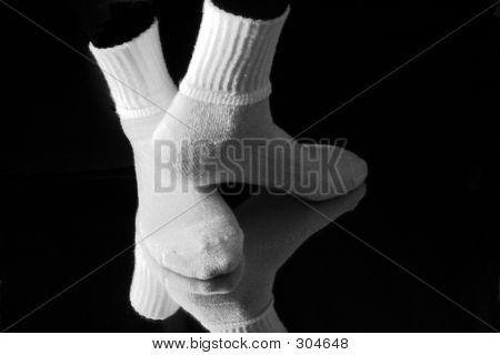 weiße Socken 1