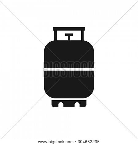 Propane Gas Tank 20 lb. Clipart image isolated on white background