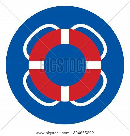 Life Buoy Symbol Sign, Vector Illustration, Isolate On White Background Label .eps10