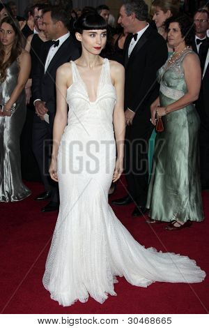 Los Angeles feb 26: Rooney Mara kommt der 84. Academy Awards an die Hollywood & Highland ce