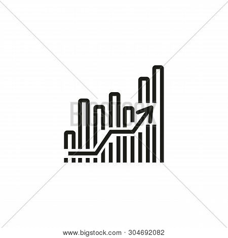 Profit Analysis Line Icon. Chart, Growth, Report. Development Concept. Can Be Used For Topics Like P