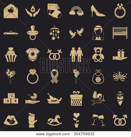 Sympathy Icons Set. Simple Set Of 36 Sympathy Vector Icons For Web For Any Design