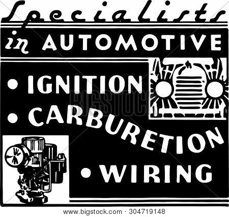 Specialists In Automotive - Retro Ad Art Banner