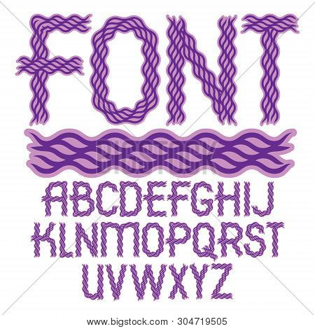 Set Of Vector Regular Capital Alphabet Letters Isolated Created Using Elegant Flowing Lines.