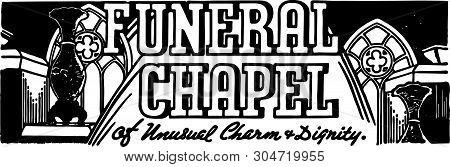 Funeral Chapel - Retro Ad Art Banner