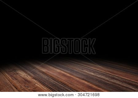 Dark Red Brown Plank Wood Floor Texture Perspective Background For Display Or Montage Of Product,moc