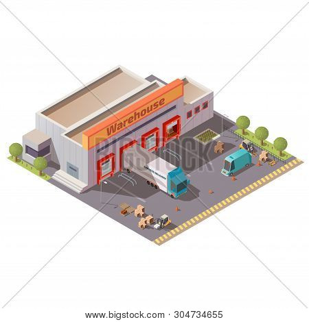 Commercial Warehouse, Delivery Company Depot, Shipping Service Storehouse, Postal Or Logistics Cente