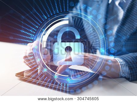 Computer Security Concept And Information Technology. Risk Management And Professional Safeguarding