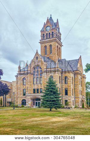 Historic Ottawa County Courthouse. Port Clinton. Ohio. Usa