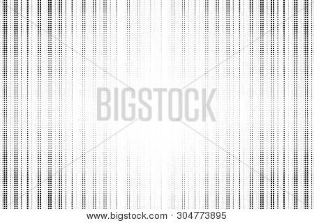 Black Stripped Halftone Grunge Background. Vector Modern Background For Posters, Brochures, Sites, W