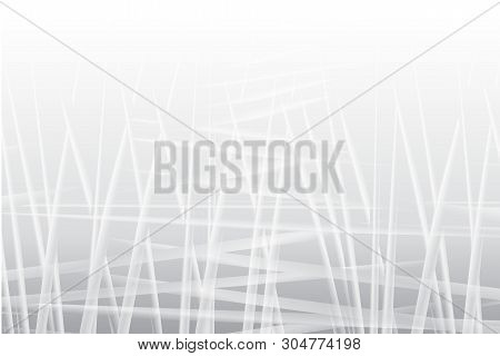 Grey Background With Transparent Chaotic Lines. Vector Modern Background For Posters, Brochures, Sit
