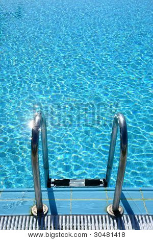 ladder into pool
