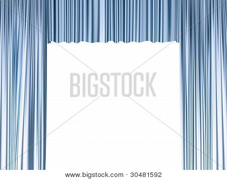 Isolated Blue Curtain