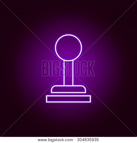 Gear Shift Controls Lever Outline Icon In Neon Style. Elements Of Car Repair Illustration In Neon St