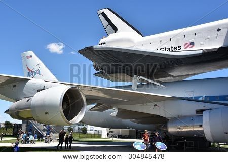 Houston, Tx - Apr 19: Nasa 905 At Space Center In Houston Texas On April 19 2019. Its A Science And