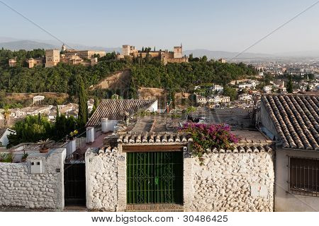 Alhambra Palace From The Albaicín