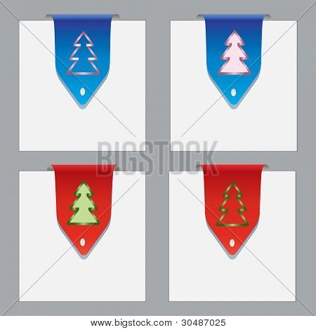 Colorful Paper Bookmarks With Christmas Theme