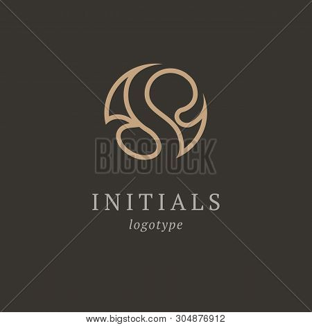 Letter S Vector Logo. Vintage Insignia And Logotype. Business Sign, Identity, Label, Badge Initials.
