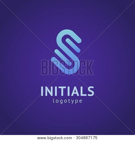 Monogram Design Elements, Graceful Template. Minimalistic Logo Design. S Logo Line Art Monogram. Let