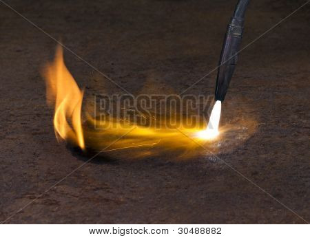 Welding Torch And Flame