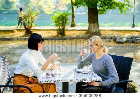 Friendship Meeting. Togetherness And Female Friendship. True Friendship Friendly Close Relations. Tr