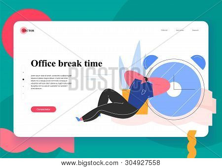 Office Break Time. Situations And Office Scenes With Efficient And Effective Time Management And Mul