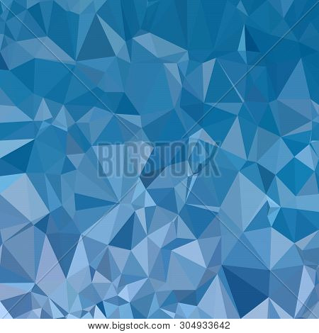 Abstract Polygon Blue Graphic Pattern Composed Of Triangles. Vector Graphic Wallpaper.